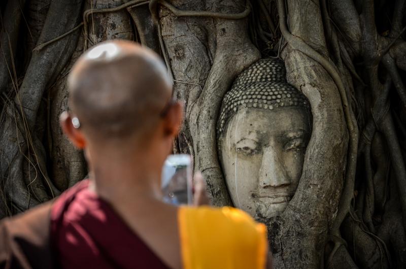 ayutthaya thailande bouddha