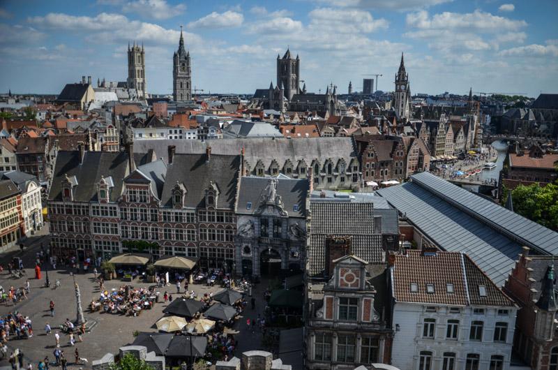 belle vue de Gand