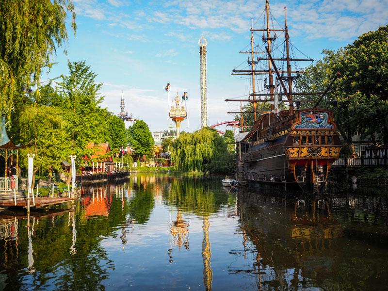 Copenhague Danemark jardins de Tivoli trotteurs addict blog voyage