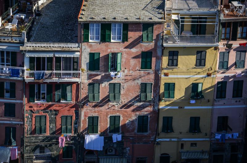 facades vernazza italie cinque terre
