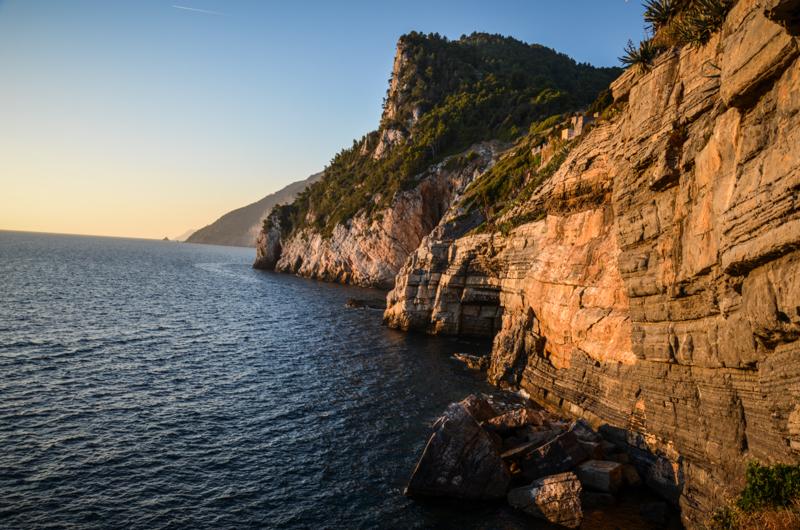 falaises coucher de soleil portovenere italie blog voyage