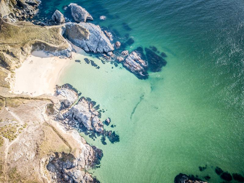 belle île bretagne crique drone
