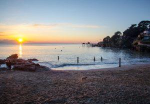 coucher de soleil plage de la source